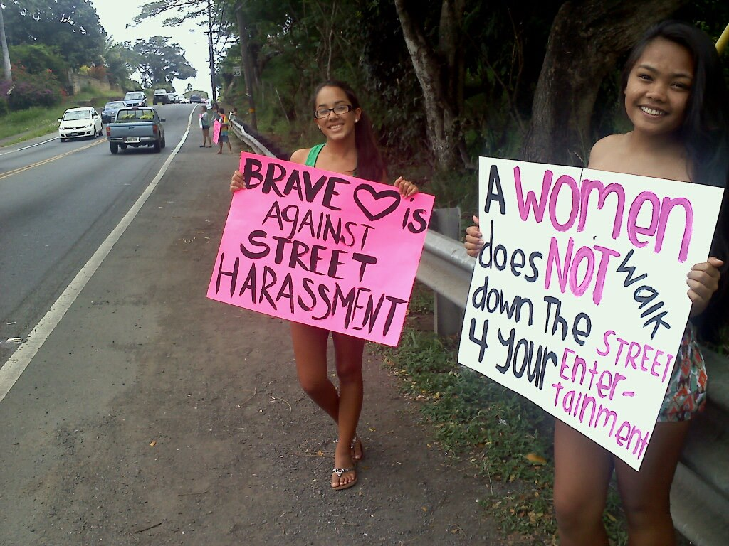 BraveHeartHawaii group - Anti-Street Harassment Week 4.7.13