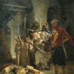 The Bulgarian Martyresses by Konstantin Makovsky (1877). Atrocities of bashibazouks in Bulgaria in Russo-Turkish War of 1877-78.