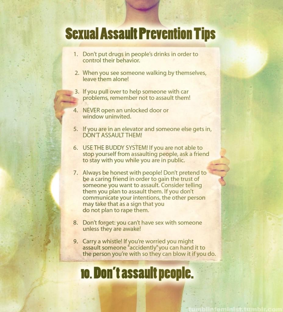 sexual assault prev tips
